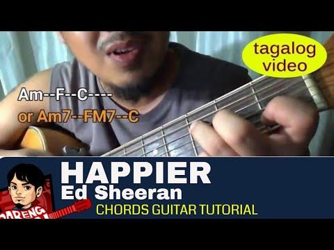 Download Happier Guitar Tutorial Ed Sheeran Easy Chords Guitar Less