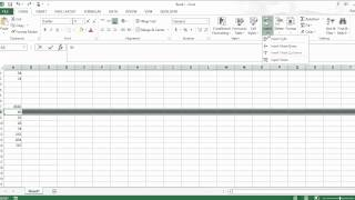 I need to increase the number of rows in Excel. How do I do that?