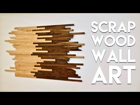 Scrap Wood Wall Art Made From Walnut & Maple | How To Build – Woodworking