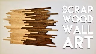 Scrap Wood Wall Art Made From Walnut & Maple | How To Build - Woodworking