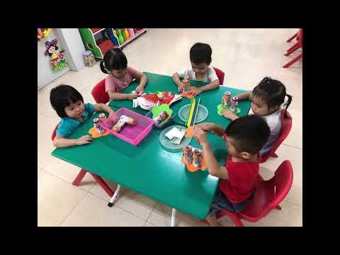 Hoạt động trải nghiệm vui tết trung thu của các bé lớp 3 tuổi A3