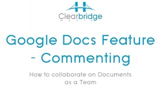 Google Docs Feature – Commenting – How to collaborate on Documents as a Team