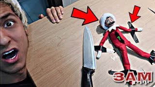 DO NOT CUT OPEN HAUNTED ELF ON THE SHELF DOLL AT 3AM!! *OMG WHAT'S INSIDE THE ELF ON THE SLELF*