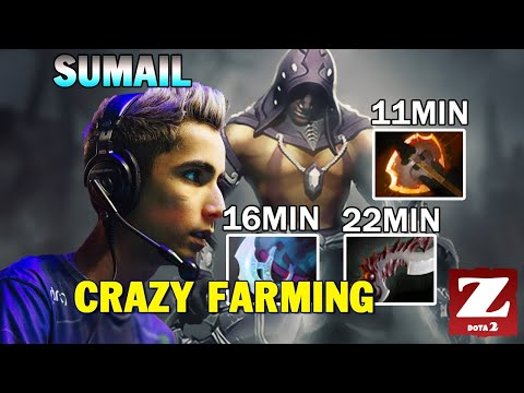 SUMAIL ANTI-MAGE Carry Super Fast Farming 11 Min Battle Fury - EZ 16 KILLS GAME DOTA 2