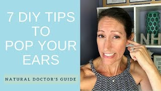 How to Naturally FIX a Clogged Ear   DIY Plugged Fluid Filled Inner Ear Remedy