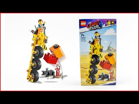 LEGO MOVIE 2 70823 Emmet's Thricycle! Construction Toy - UNBOXING