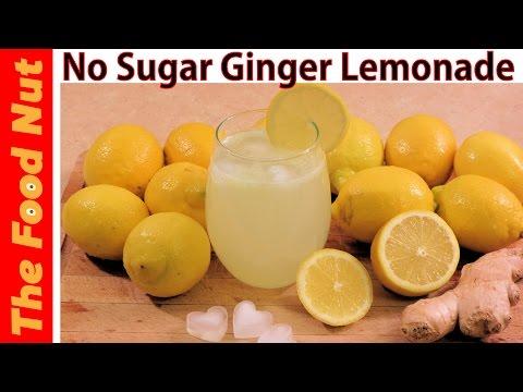 Video Ginger Lemonade Recipe With Fresh Lemon Juice - How To Make Sugar Free Lemonade | The Food Nut
