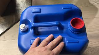 Unboxing and Review of Hudson Exchange 5 Gallon Handled Container with Cap, HDPE, Blue Hedpack