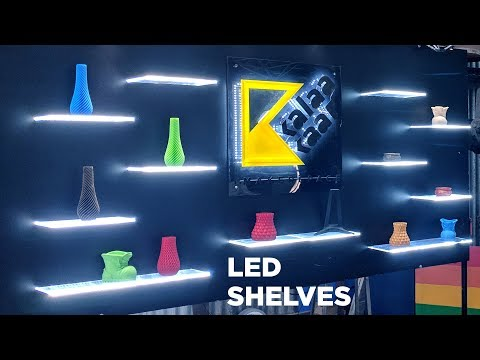 Floating LED Shelves // Complete How to