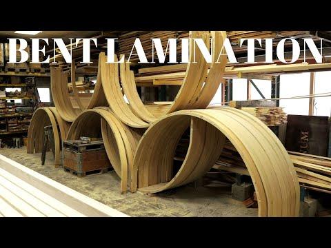 Making siding segments- bent lamination видео