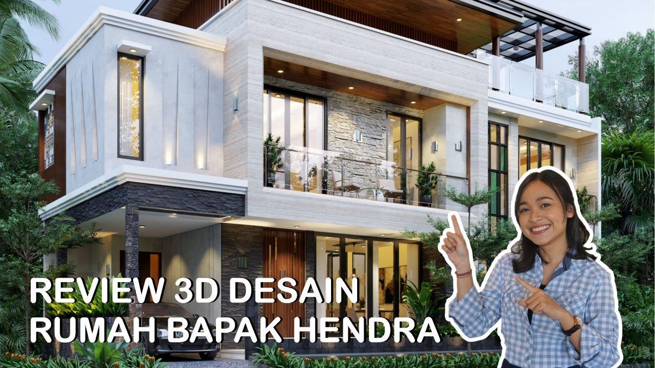 Video 3D Mr. Hendra Modern House 2 Floors Design - Depok
