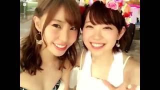 NMB48渡辺美優紀みるきーと藤江れいなれいにゃんの水着と浴衣