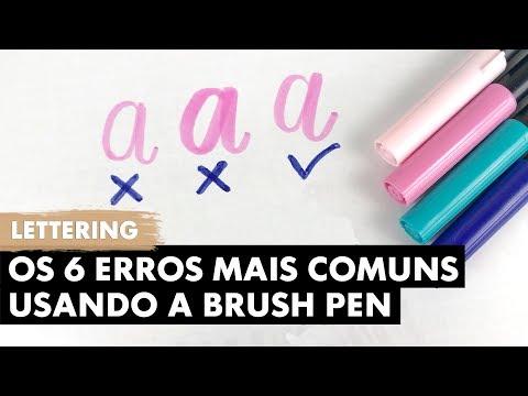 6 Erros de Lettering com a Brush Pen | Primeiro Rabisco