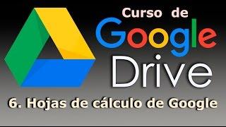 Curso de Google Drive. 6. Hojas de cálculo de Google Drive.