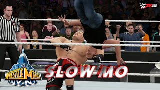 WWE 2K16 Recreation: Brock Lesnar F5s Shawn Michaels at WrestleMania 29