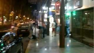 preview picture of video 'Antalya Turkey at night (near old city's road)'