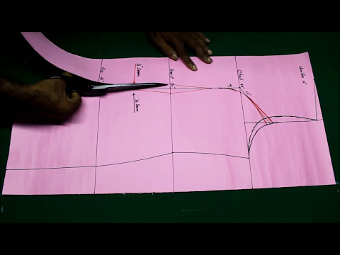 Princess cut kurti cutting and stitching DIY tutorial explained 2017 part1, Princess cut kameez