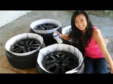How to Plasti Dip Car Rims – Matte Black Wheels