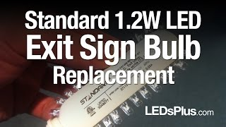 1.2W LED Light Bulb Replacement Kit For Exit Signs