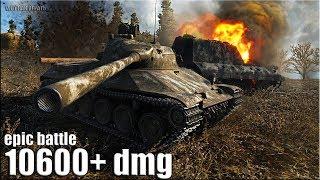 Бодрое рубилово на TVP T50/51 🌟 10600+ dmg 🌟 World of Tanks лучший бой на ст