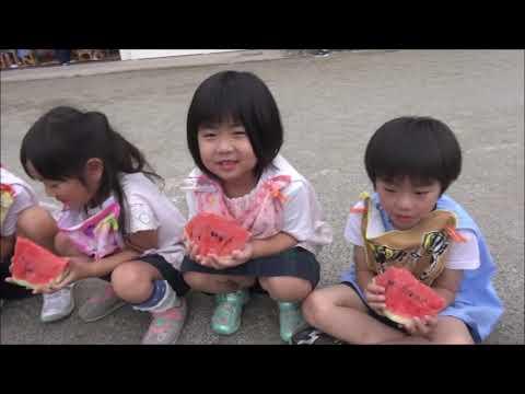 笠間市 ともべ幼稚園「七夕祝会 スイカをいただきました!」
