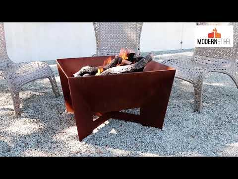 Kenna Fia Steel Gas Fire Pit