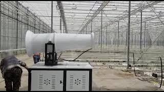 mist cannon fog dust sprayer cannon youtube video