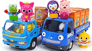 Deliver delicious Snacks and couriers with Pororo! Tayo's little Truck is dispatched! | PinkyPopTOY