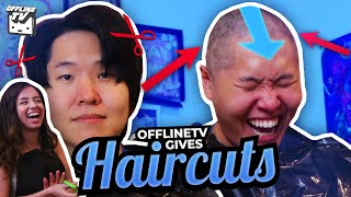 HE WENT BALD?! - OFFLINETV GIVES HAIRCUTS ft. DisguisedToast Michael Reeves Scarra