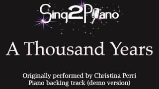 A Thousand Years - Christina Perri - Twilight (Piano backing track) karaoke