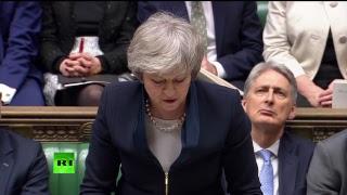 Тереза Мэй выступает в парламенте перед голосованием по поводу сделки по брекситу