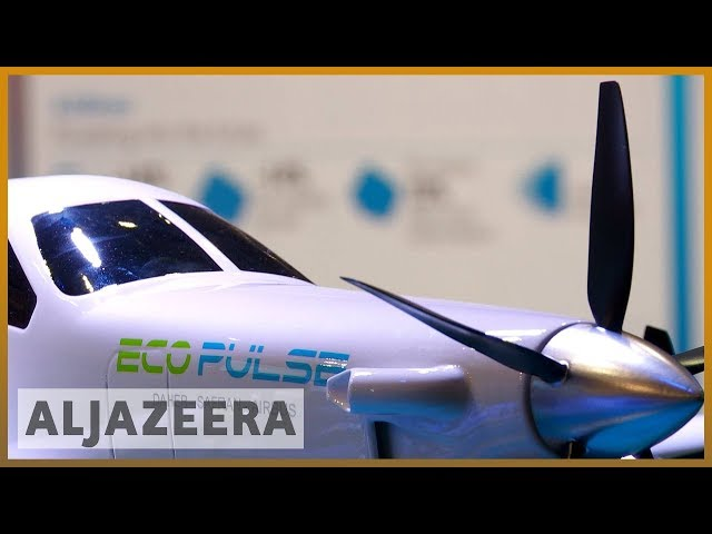 Environmentally friendly jets displayed at Paris Air Show