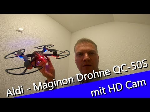 Aldi Maginon Quadrokopter QC-50C Drohne mit HD Camera Review - Bessere Cam als 2017?
