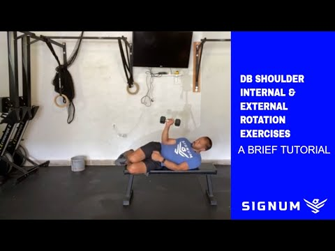 Dumbbell Shoulder Internal Rotation (on bench)