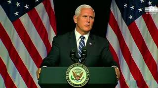 Mike Pence Space Force Speech with Halo Theme added