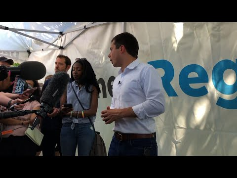 Democratic presidential candidate Pete Buttigieg, at the Iowa State Fair, said rural Americans are beginning to see that the Trump administration is neglecting their regions, and that rural Americans embrace immigrants. (Aug. 14)
