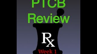 Week 1 Pharmacy Technician Class