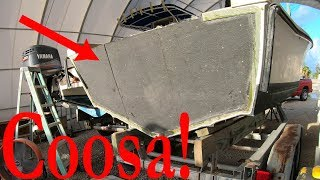 Fiberglassing A Composite Boat Transom! Start to Finish!