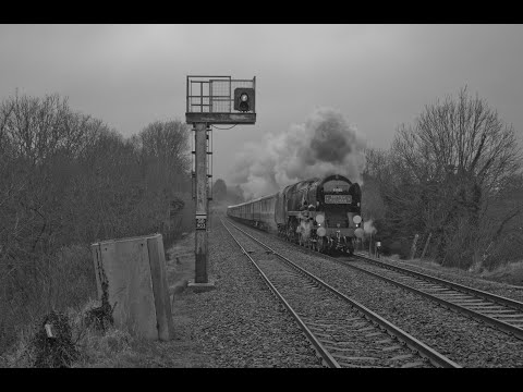 35028 'Clan Line' with 'The Belmond Surrey Hills Pullman' at…