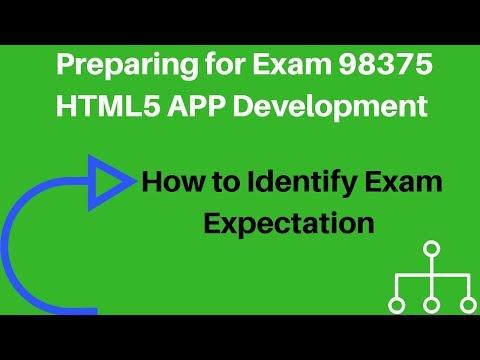 Preparing for Exam 98 375 HTML5 App Development ... - YouTube