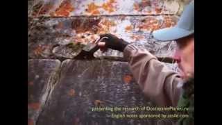 Tajomné polygonálne megalitické murivo na Chusovoye, okres Sverdlovskaya, Rusko