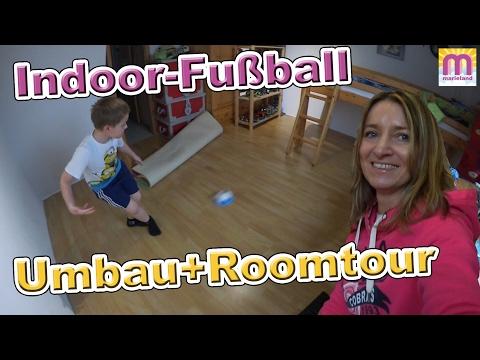 Indoor Fußball | Roomtour und Kinderzimmer Umbau | Vlog #38 marieland