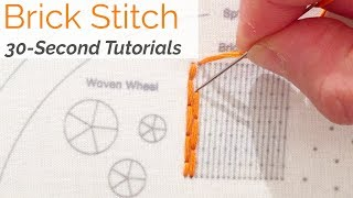 How To: Brick Stitch Embroidery: 30-Second Tutorial