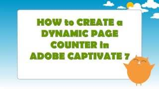 Create a Dynamic Page Counter in Adobe Captivate 7