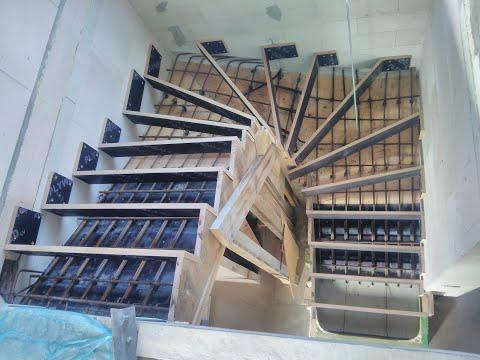 Опалубка железобетонной  лестницы с забежными ступенями своими руками.