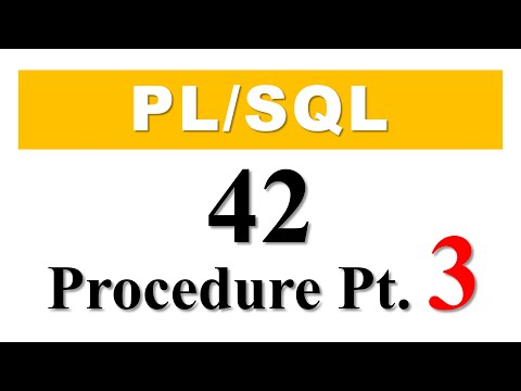 PL/SQL tutorial 42: How To Create PL/SQL Stored Procedure With Parameters In Oracle Database