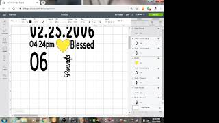 How to make a baby birth announcement in Cricut Design Space