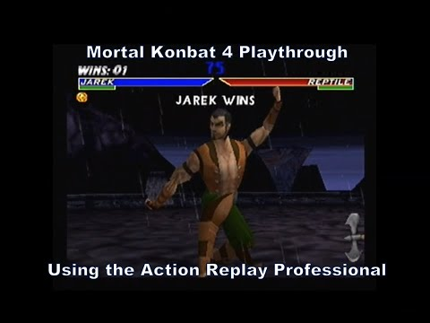 Mortal Kombat 4 Jarek Playthrough using the Action Replay Professional for N64 :D