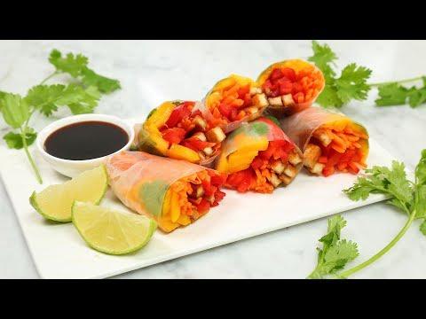 Healthy Rainbow Rolls 3 Delicious Ways