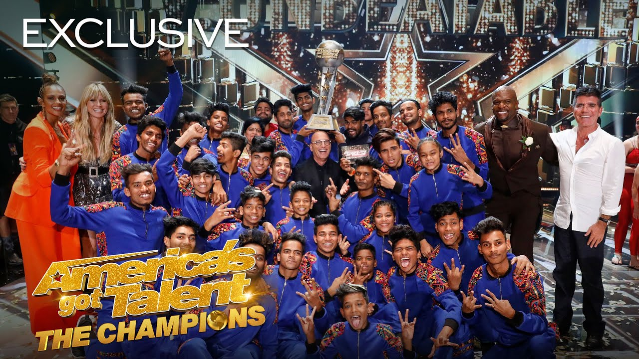 Heidi Klum talks to V.Unbeatable about their EPIC WIN! - America's Got Talent: The Champions thumbnail